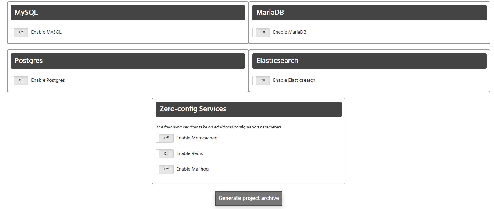 Servicios PHP Docker